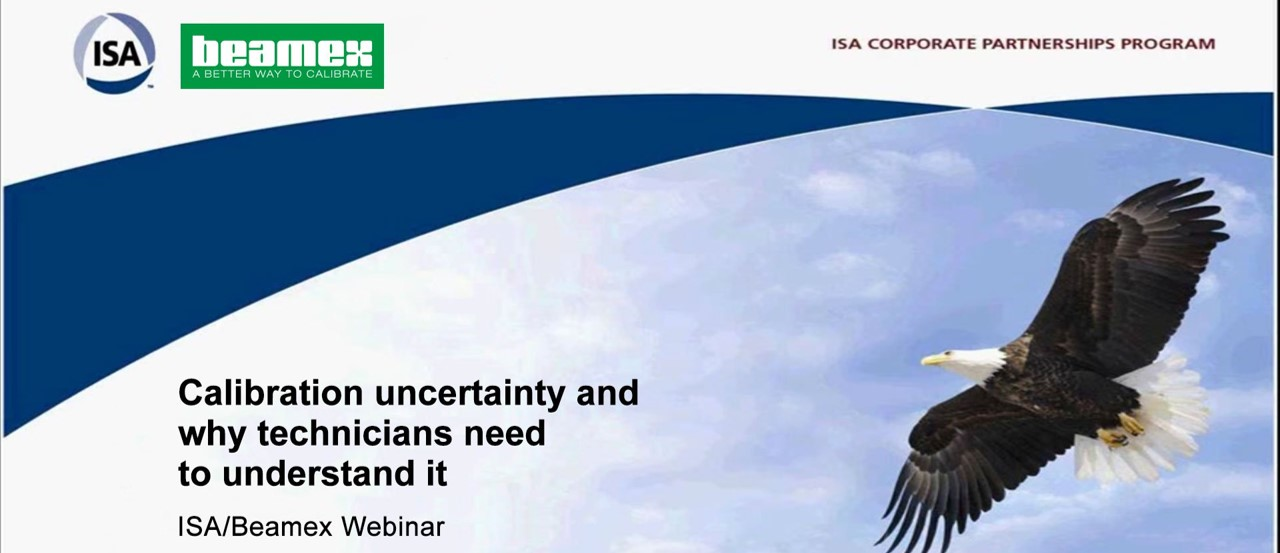 Calibration uncertainty and why technicians need to understand it - Beamex webinar