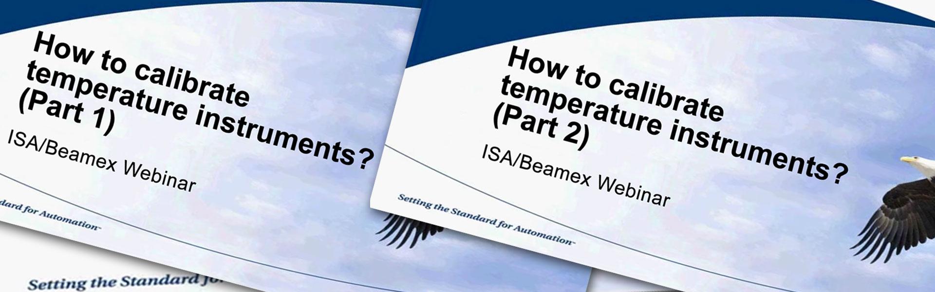 How to calibrate temperature instruments [Webinar]